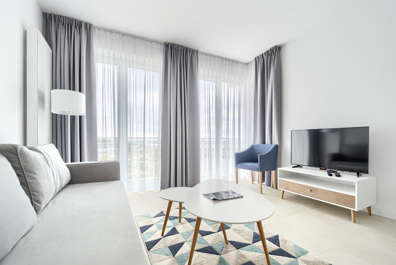 Wnętrze apartamentu typu Comfort z widokiem na morze